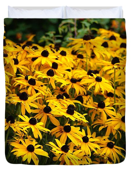 Blackeyed Susan Duvet Cover by Joe Faherty