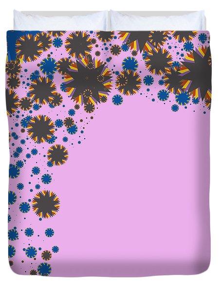 Blades On Purple Duvet Cover by Atiketta Sangasaeng