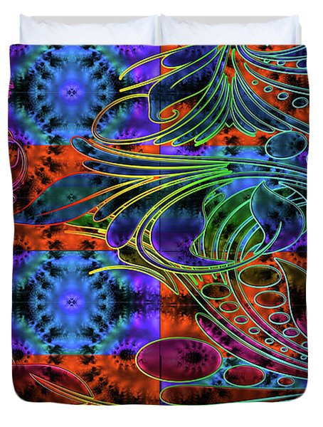 Bleeding Rainbow Duvet Cover by Clayton Bruster