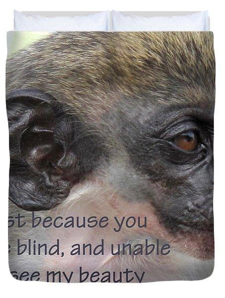 Blind Beauty Duvet Cover by Ian  MacDonald