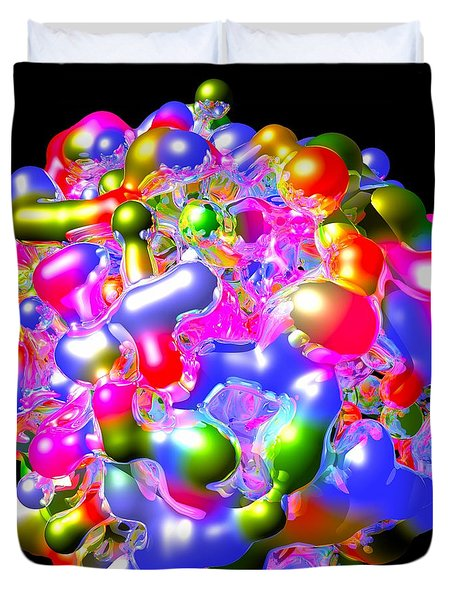 Duvet Cover featuring the digital art Blob Of Color... by Tim Fillingim