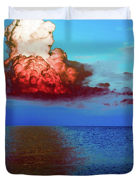 Blood Red Clouds Duvet Cover by Shannon Harrington