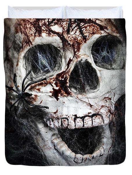 Bloody Skull Duvet Cover