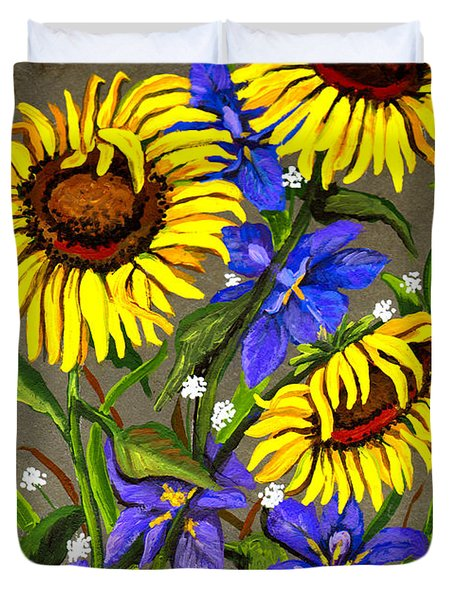 Bloom Duvet Cover by Elaine Hodges
