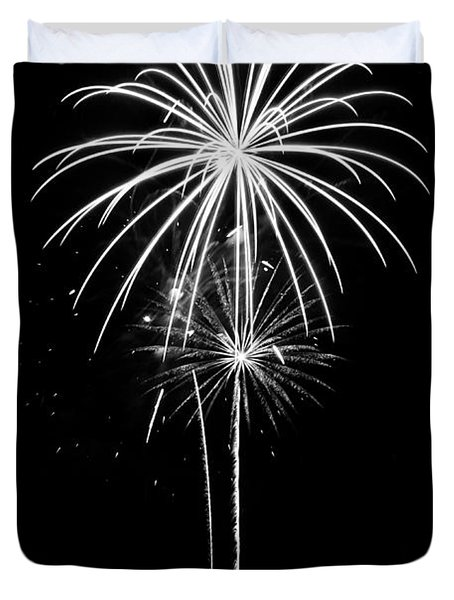 Blooming In Black And White Duvet Cover by Bill Pevlor