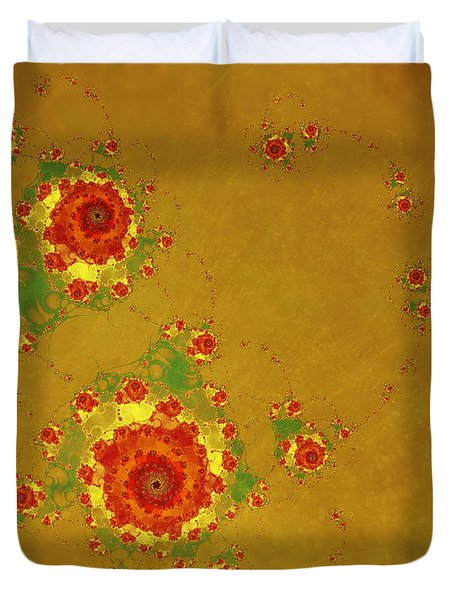 Duvet Cover featuring the digital art Blossom by Ester  Rogers