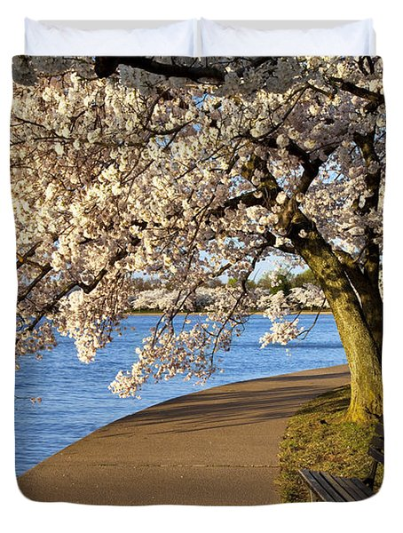 Blossoming Cherry Trees Duvet Cover by Brian Jannsen