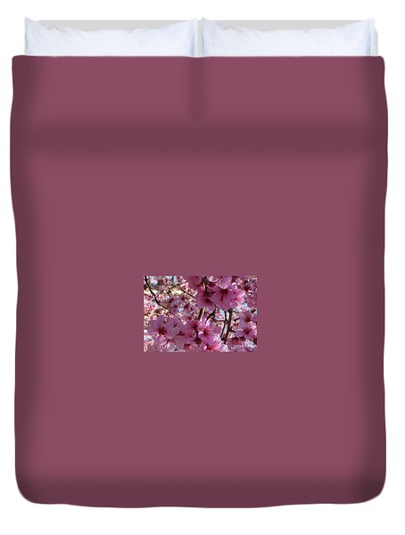 Duvet Cover featuring the photograph Blossoms by Lydia Holly