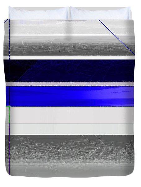 Blue And White Stripes Duvet Cover
