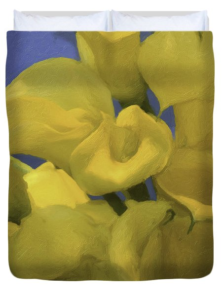 Blue And Yellow Duvet Cover