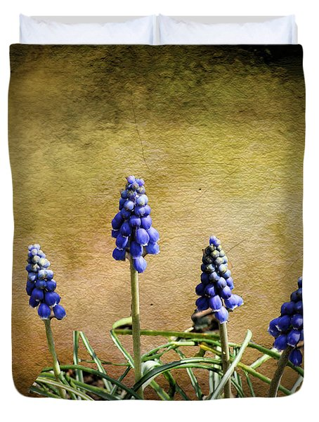 Duvet Cover featuring the photograph Blue Bells by Rick Friedle
