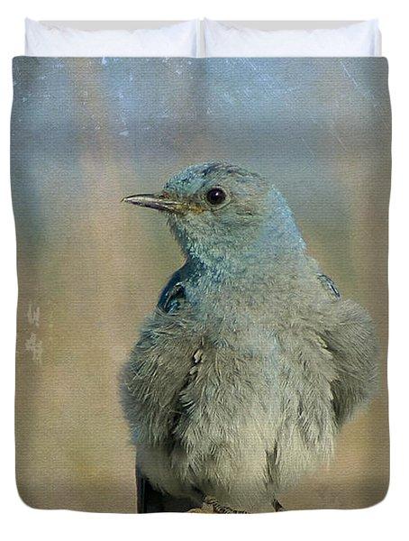 Blue Bird Duvet Cover by Teresa Zieba