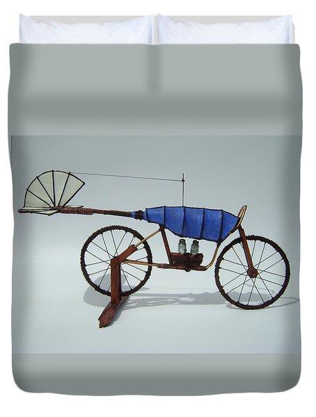 Blue Caravan Duvet Cover by Jim Casey