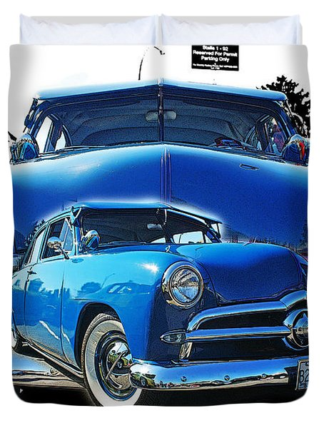 Blue Classic Dbl.hdr Duvet Cover by Randy Harris