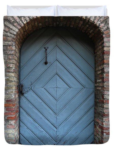 Blue Door Duvet Cover by Carol Groenen