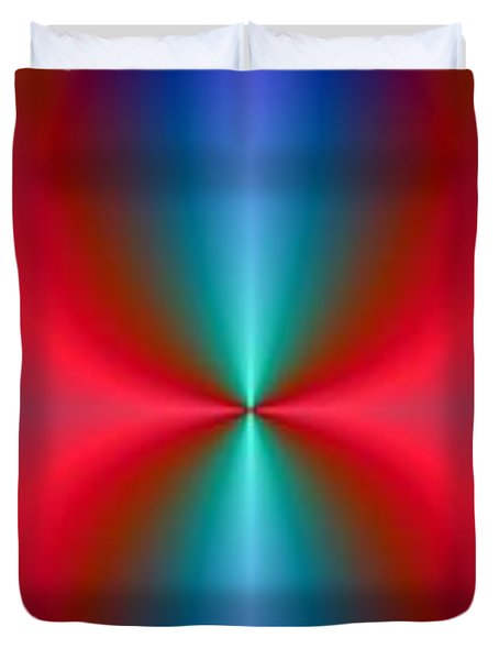 Duvet Cover featuring the digital art Blue Flame by Ester  Rogers