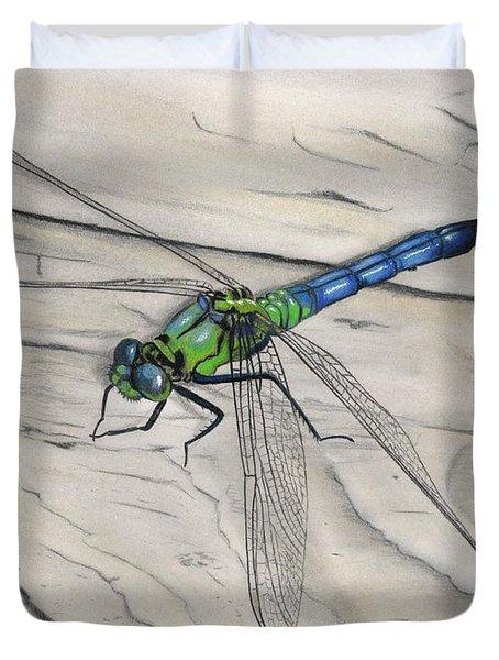 Blue-green Dragonfly Duvet Cover