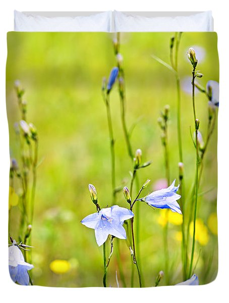 Blue Harebells Wildflowers Duvet Cover by Elena Elisseeva