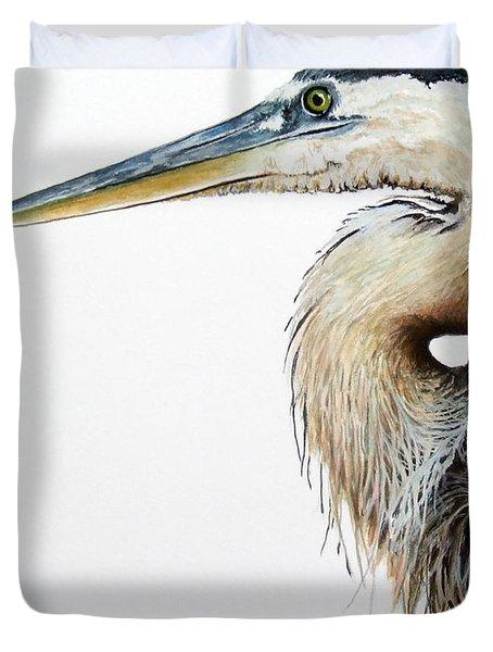 Blue Heron Study Duvet Cover