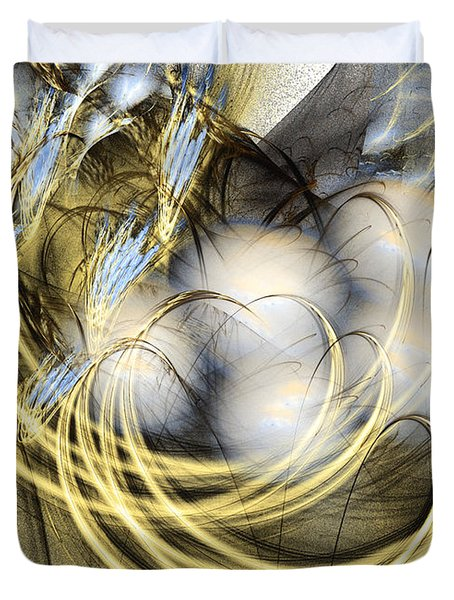 Blue Lullaby - Abstract Art Duvet Cover