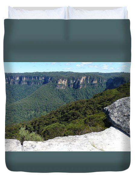 Blue Mountains Duvet Cover by Carla Parris