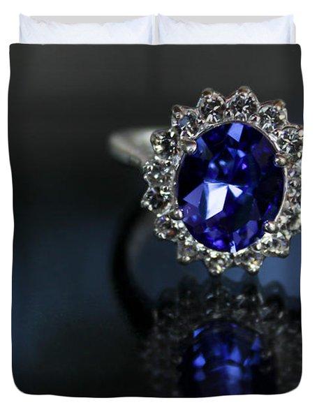 Blue On Bling Duvet Cover