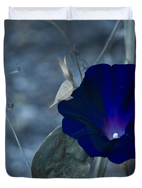 Blue Petunia 2 Duvet Cover