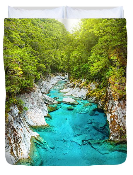 Blue Pools Duvet Cover by MotHaiBaPhoto Prints