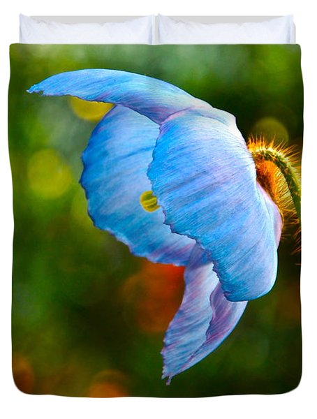 Blue Poppy Dreams Duvet Cover by Byron Varvarigos