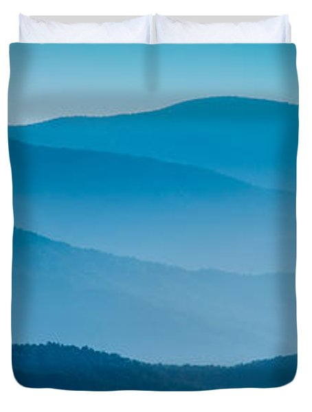 Blue Ridges Panoramic Duvet Cover