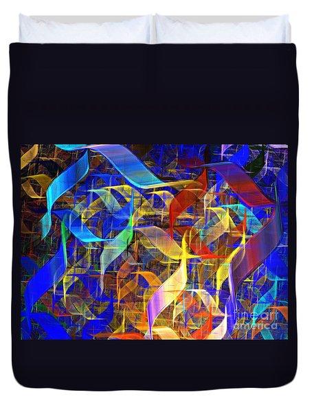 Blue Shift Duvet Cover by Kim Sy Ok