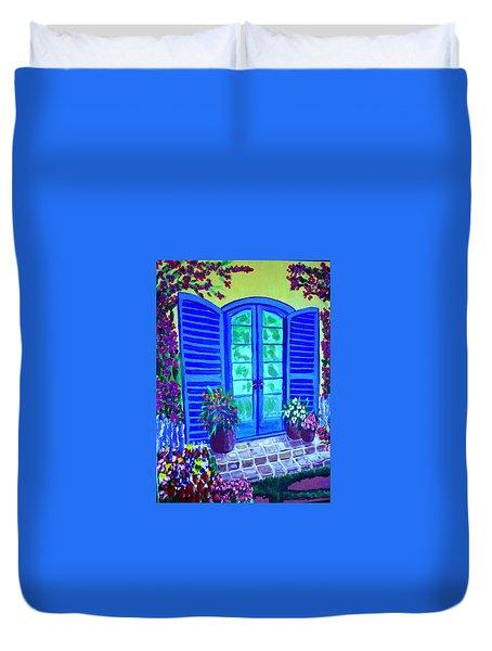 Blue Shutters Duvet Cover