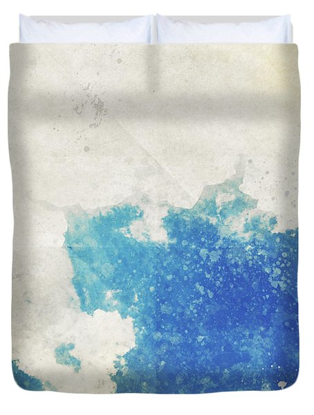Blue Sky And Cloud On Old Grunge Paper Duvet Cover by Setsiri Silapasuwanchai