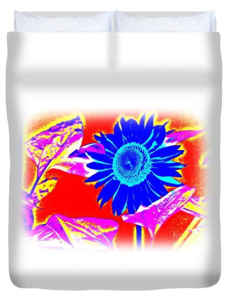 Blue Sunflower Duvet Cover by Pauli Hyvonen