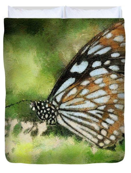 Blue Tiger Duvet Cover by Lois Bryan