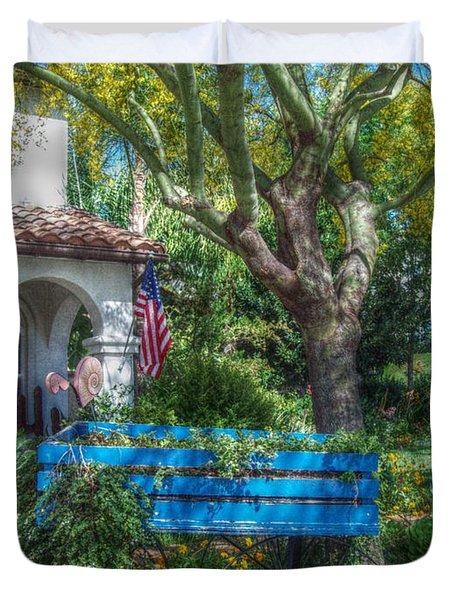 Blue Wagon Duvet Cover by Cindy Nunn