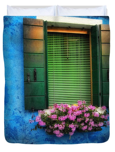 Blue Wall Duvet Cover by Mauro Celotti