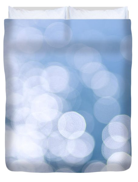 Blue Water And Sunshine Abstract Duvet Cover