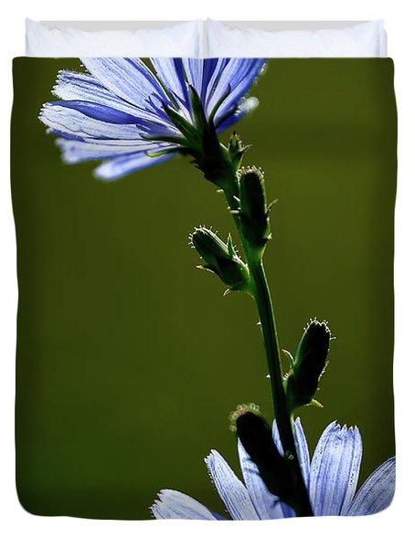 Blue Wildflower Duvet Cover by  Onyonet  Photo Studios