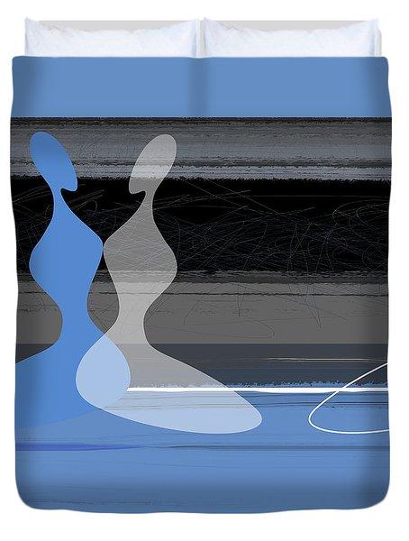 Blue Women Duvet Cover