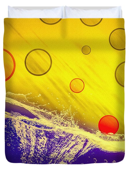 Blue Yellow Red Duvet Cover by Bob Orsillo