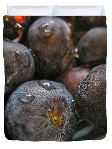 Duvet Cover featuring the photograph Blueberries  by Bill Owen