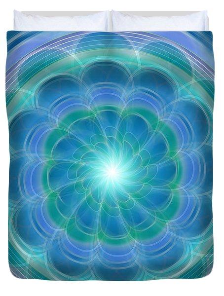 Bluefloraspin Duvet Cover