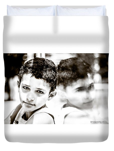 Duvet Cover featuring the photograph Blurred Thoughts by Stwayne Keubrick