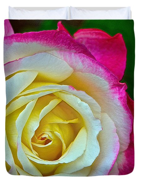 Blushing Rose Duvet Cover by Bill Owen