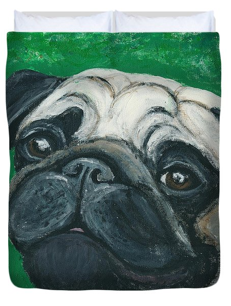 Bo The Pug Duvet Cover
