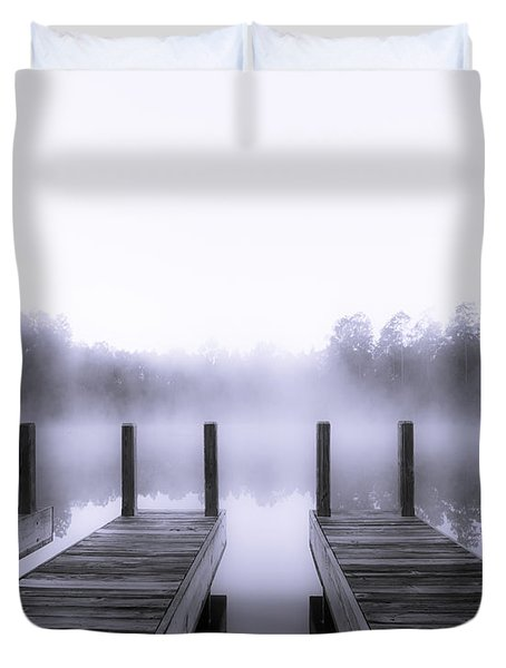 Boat House Duvet Cover by Mary Sparrow