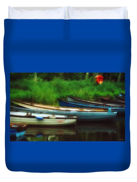 Boats At Rest Duvet Cover