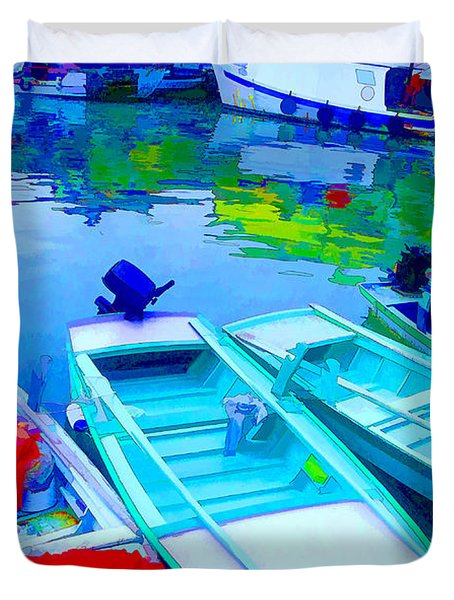 Boats Duvet Cover by Mauro Celotti