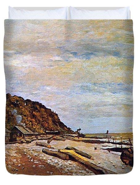 Boatyard Near Honfleur Duvet Cover by Claude Monet